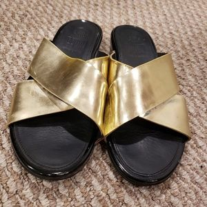 Golden FitFlop Slippers
